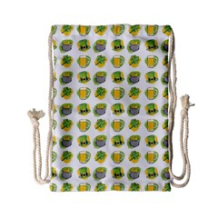 St Patrick S Day Background Symbols Drawstring Bag (Small)