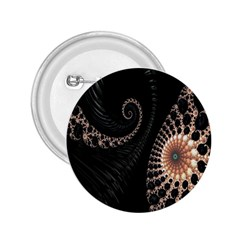 Fractal Black Pearl Abstract Art 2 25  Buttons