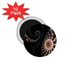 Fractal Black Pearl Abstract Art 1.75  Magnets (10 pack)