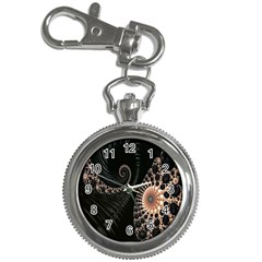 Fractal Black Pearl Abstract Art Key Chain Watches