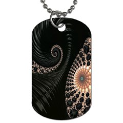 Fractal Black Pearl Abstract Art Dog Tag (one Side)