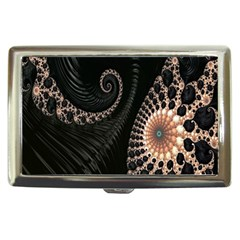 Fractal Black Pearl Abstract Art Cigarette Money Cases