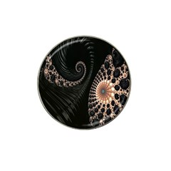 Fractal Black Pearl Abstract Art Hat Clip Ball Marker