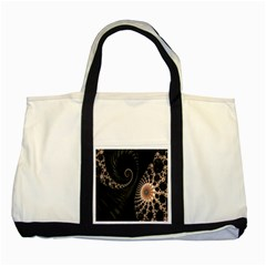 Fractal Black Pearl Abstract Art Two Tone Tote Bag