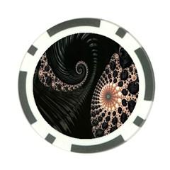 Fractal Black Pearl Abstract Art Poker Chip Card Guard