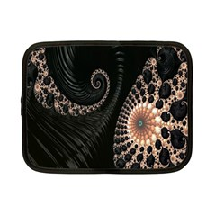 Fractal Black Pearl Abstract Art Netbook Case (Small)