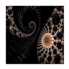 Fractal Black Pearl Abstract Art Face Towel