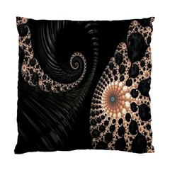 Fractal Black Pearl Abstract Art Standard Cushion Case (one Side)