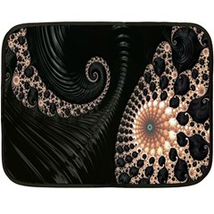 Fractal Black Pearl Abstract Art Fleece Blanket (Mini)