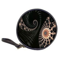 Fractal Black Pearl Abstract Art Classic 20-CD Wallets