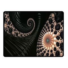 Fractal Black Pearl Abstract Art Fleece Blanket (small)