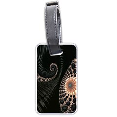 Fractal Black Pearl Abstract Art Luggage Tags (One Side)