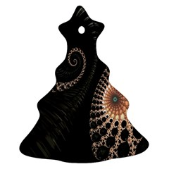 Fractal Black Pearl Abstract Art Ornament (Christmas Tree)