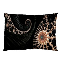 Fractal Black Pearl Abstract Art Pillow Case (Two Sides)