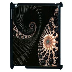 Fractal Black Pearl Abstract Art Apple Ipad 2 Case (black)