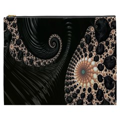 Fractal Black Pearl Abstract Art Cosmetic Bag (XXXL)