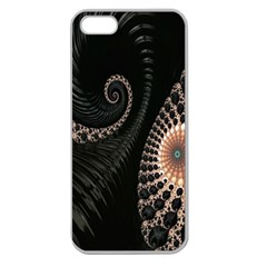Fractal Black Pearl Abstract Art Apple Seamless iPhone 5 Case (Clear)