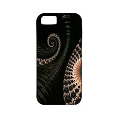 Fractal Black Pearl Abstract Art Apple iPhone 5 Classic Hardshell Case (PC+Silicone)