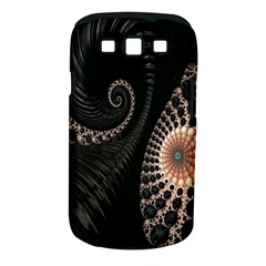 Fractal Black Pearl Abstract Art Samsung Galaxy S Iii Classic Hardshell Case (pc+silicone)