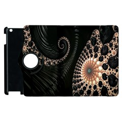 Fractal Black Pearl Abstract Art Apple Ipad 3/4 Flip 360 Case