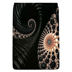 Fractal Black Pearl Abstract Art Flap Covers (s)