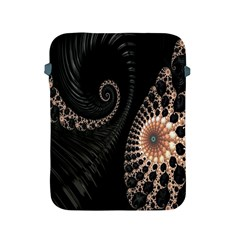 Fractal Black Pearl Abstract Art Apple iPad 2/3/4 Protective Soft Cases