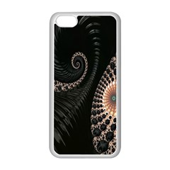 Fractal Black Pearl Abstract Art Apple Iphone 5c Seamless Case (white)