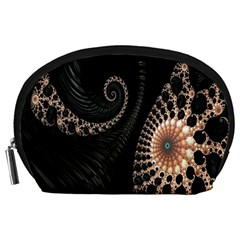 Fractal Black Pearl Abstract Art Accessory Pouches (large)