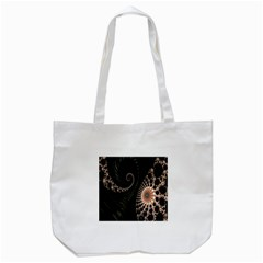 Fractal Black Pearl Abstract Art Tote Bag (white)