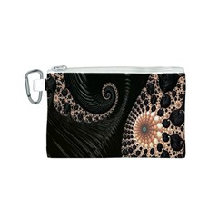 Fractal Black Pearl Abstract Art Canvas Cosmetic Bag (S)