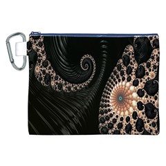 Fractal Black Pearl Abstract Art Canvas Cosmetic Bag (xxl)
