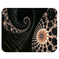 Fractal Black Pearl Abstract Art Double Sided Flano Blanket (medium)