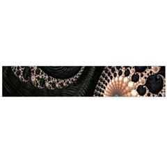 Fractal Black Pearl Abstract Art Flano Scarf (large)
