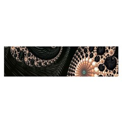 Fractal Black Pearl Abstract Art Satin Scarf (oblong)