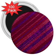 Stripes Course Texture Background 3  Magnets (100 Pack)