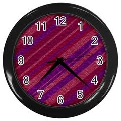 Stripes Course Texture Background Wall Clocks (Black)