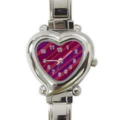 Stripes Course Texture Background Heart Italian Charm Watch