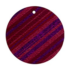 Stripes Course Texture Background Round Ornament (Two Sides)