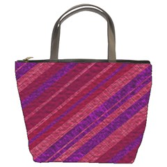 Stripes Course Texture Background Bucket Bags