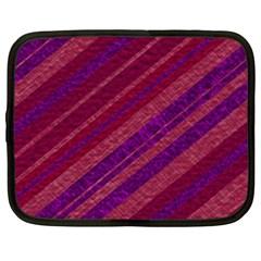 Stripes Course Texture Background Netbook Case (xl)