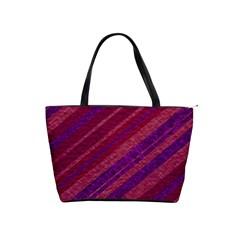 Stripes Course Texture Background Shoulder Handbags