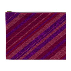Stripes Course Texture Background Cosmetic Bag (XL)