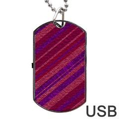 Stripes Course Texture Background Dog Tag USB Flash (Two Sides)