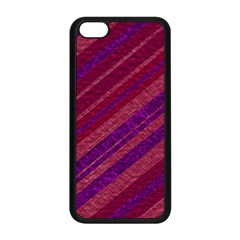Stripes Course Texture Background Apple iPhone 5C Seamless Case (Black)