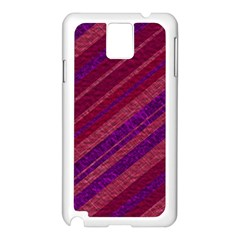 Stripes Course Texture Background Samsung Galaxy Note 3 N9005 Case (White)