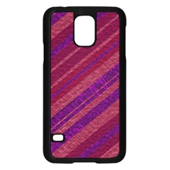 Stripes Course Texture Background Samsung Galaxy S5 Case (Black)