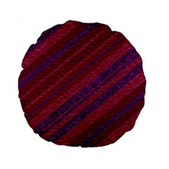 Stripes Course Texture Background Standard 15  Premium Flano Round Cushions