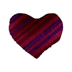 Stripes Course Texture Background Standard 16  Premium Flano Heart Shape Cushions