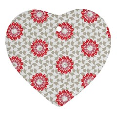 Stamping Pattern Fashion Background Ornament (Heart)