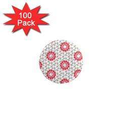 Stamping Pattern Fashion Background 1  Mini Magnets (100 pack)